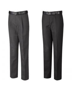 DL Slimfit Flat Front SNR Boys BlackTrousers